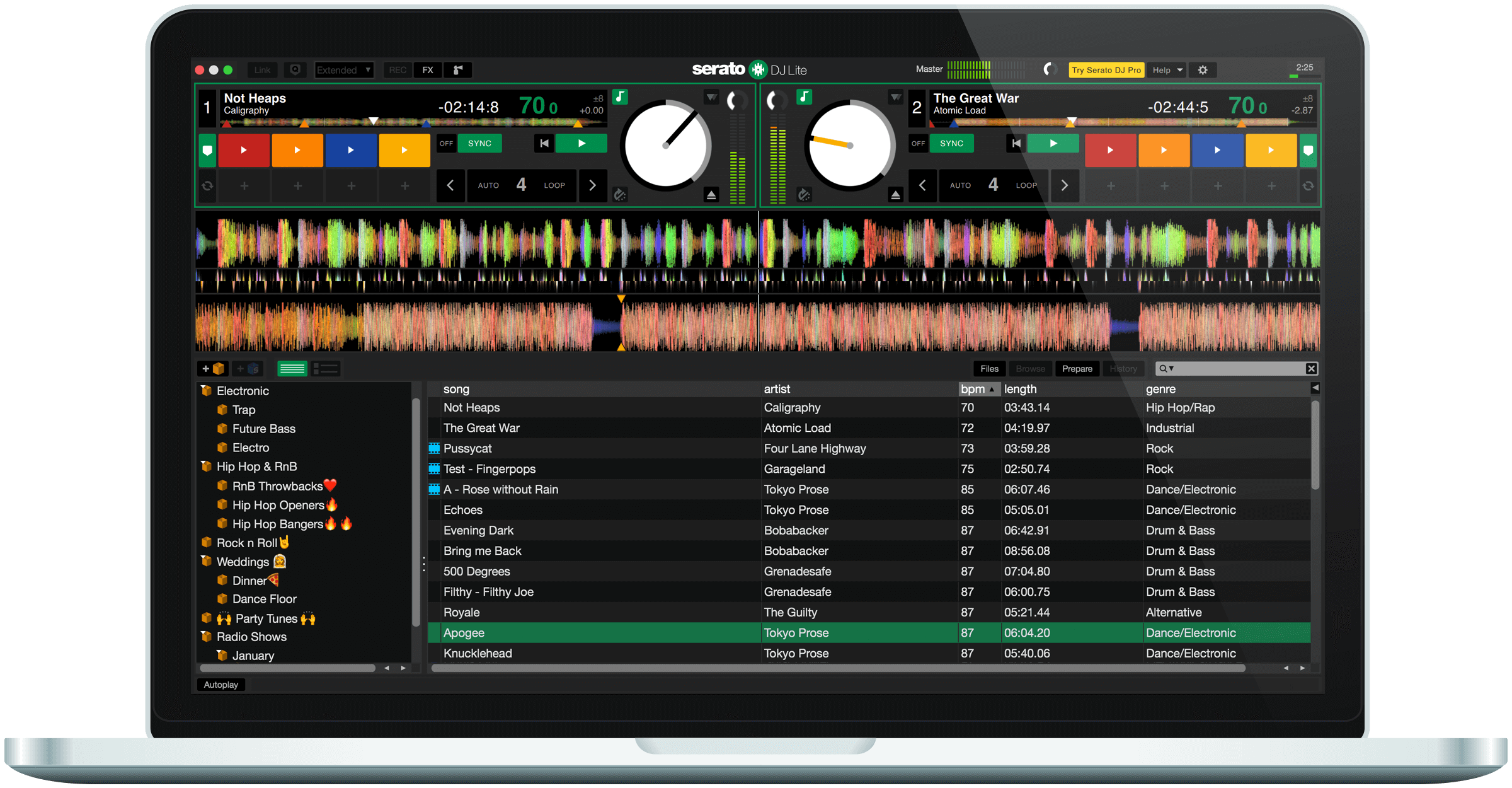Serato DJ Lite full screenshot