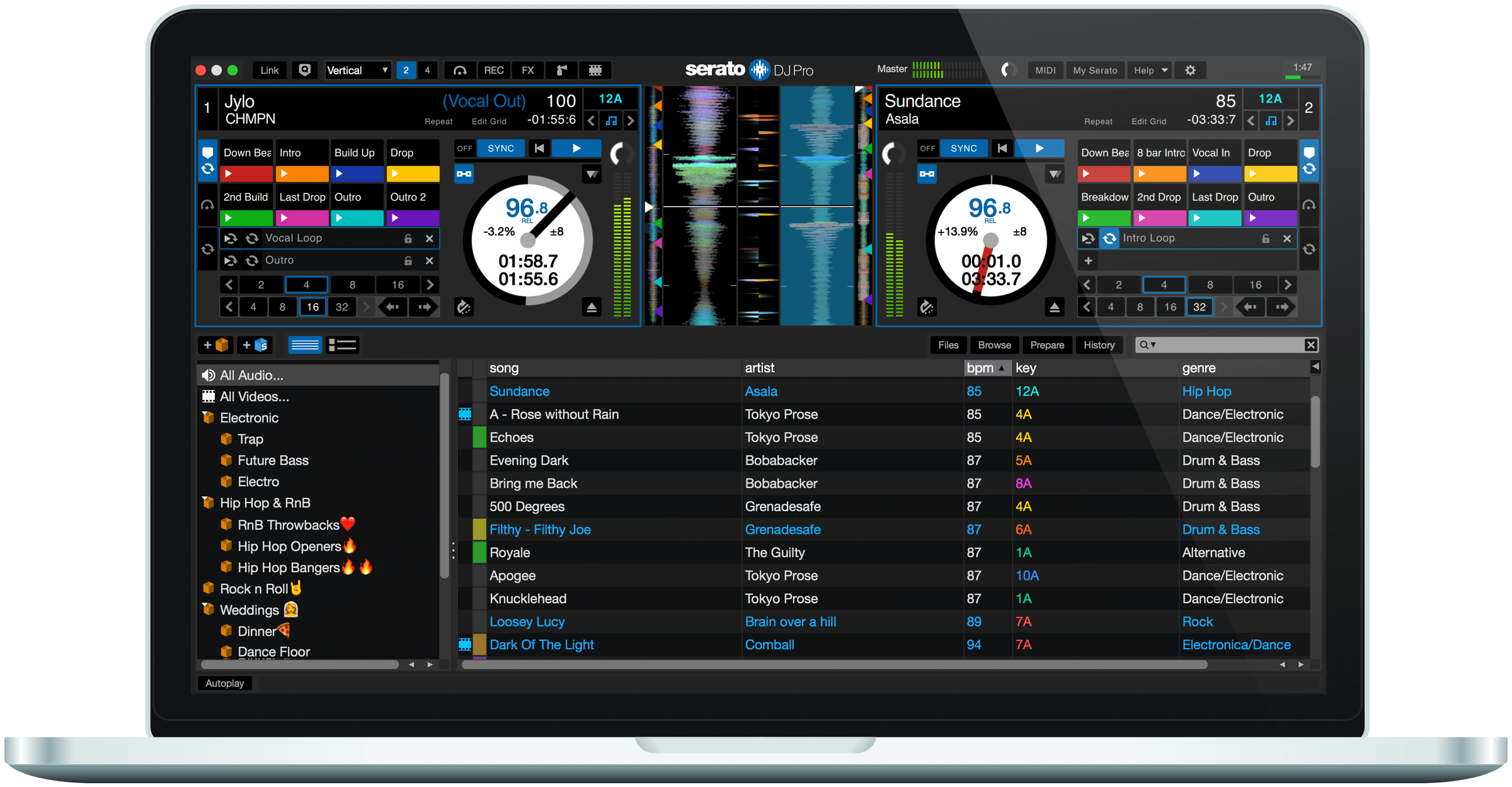 Serato DJ Pro full screenshot