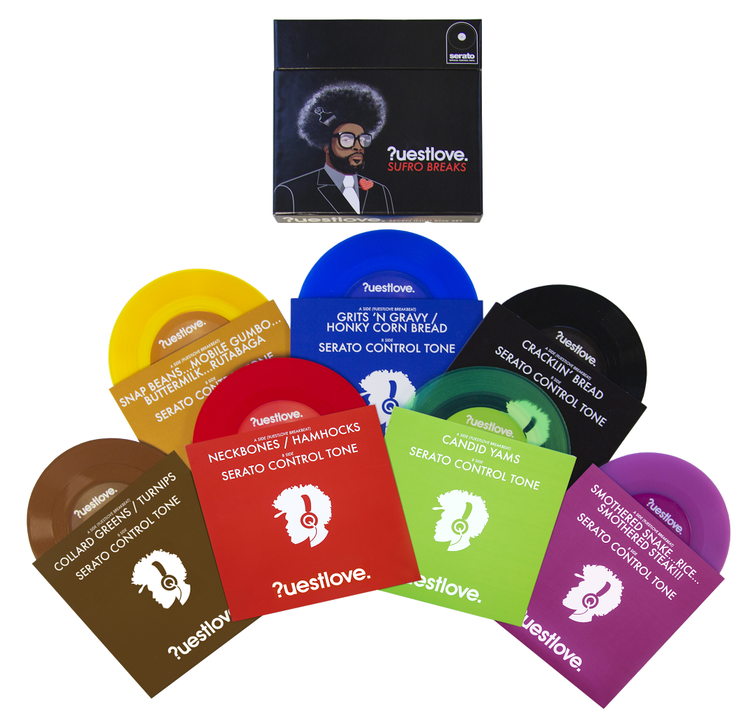 Questlove 'Sufro Breaks' 7'' Serato Pressing boxset