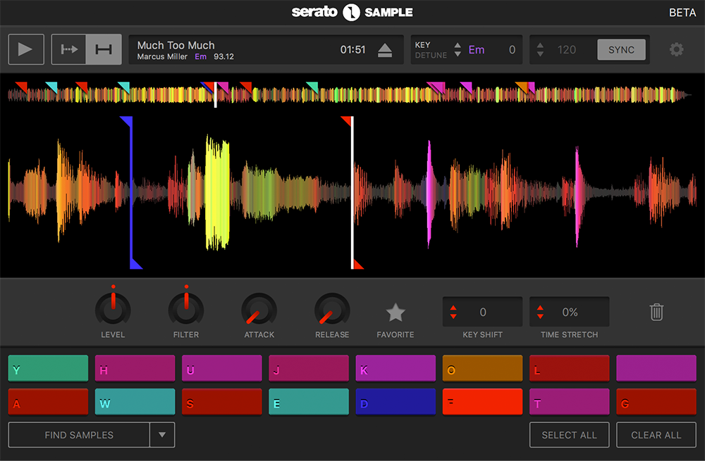 Serato Sample screen