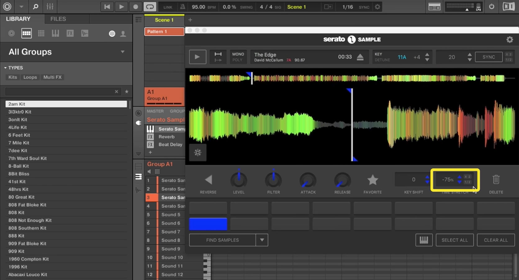 4. The power of Pitch 'n Time in Serato Sample
