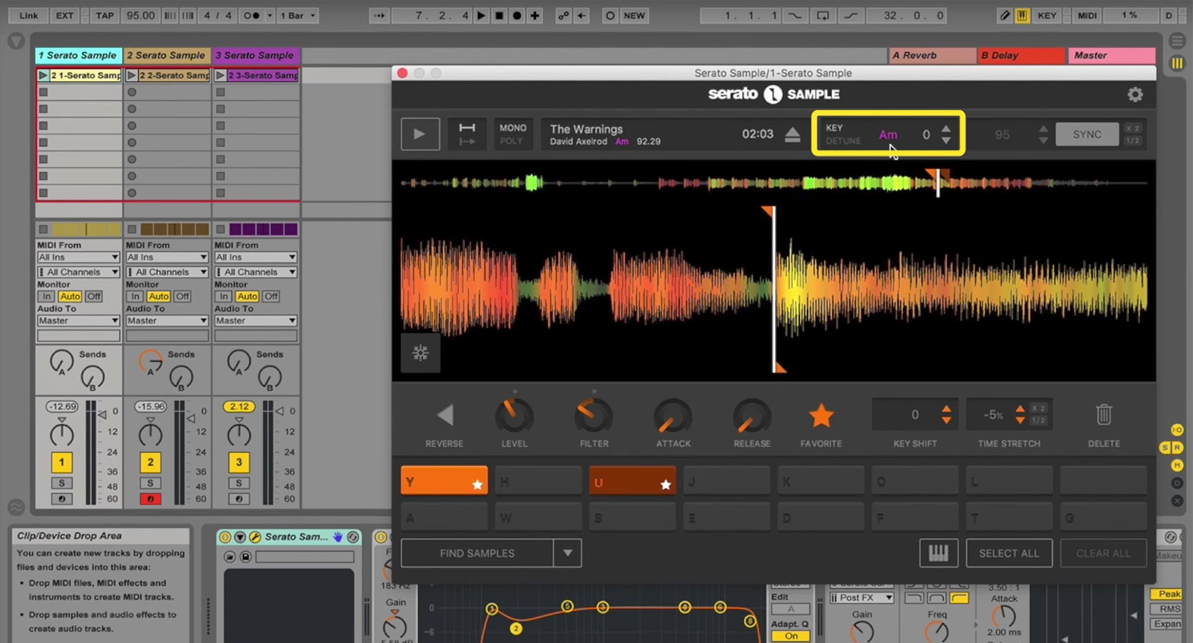 5. How to use Key detection and shifting in Serato Sample