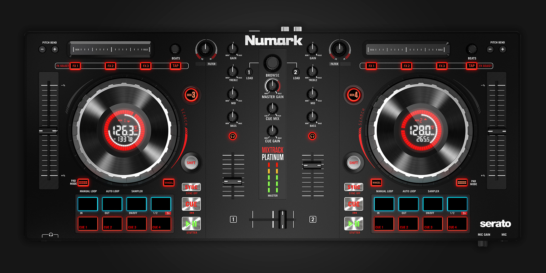 Numark Mixtrack Platinum Serato Dj Hardware