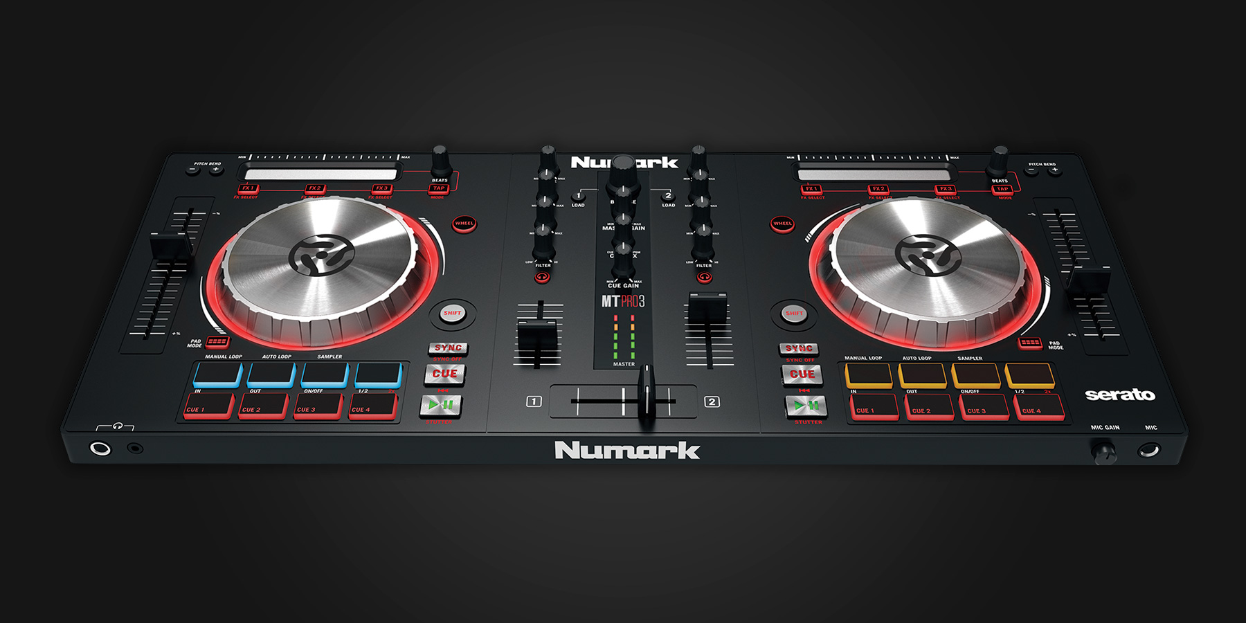 numark mixtrack pro 3 serato dj hardware. Black Bedroom Furniture Sets. Home Design Ideas