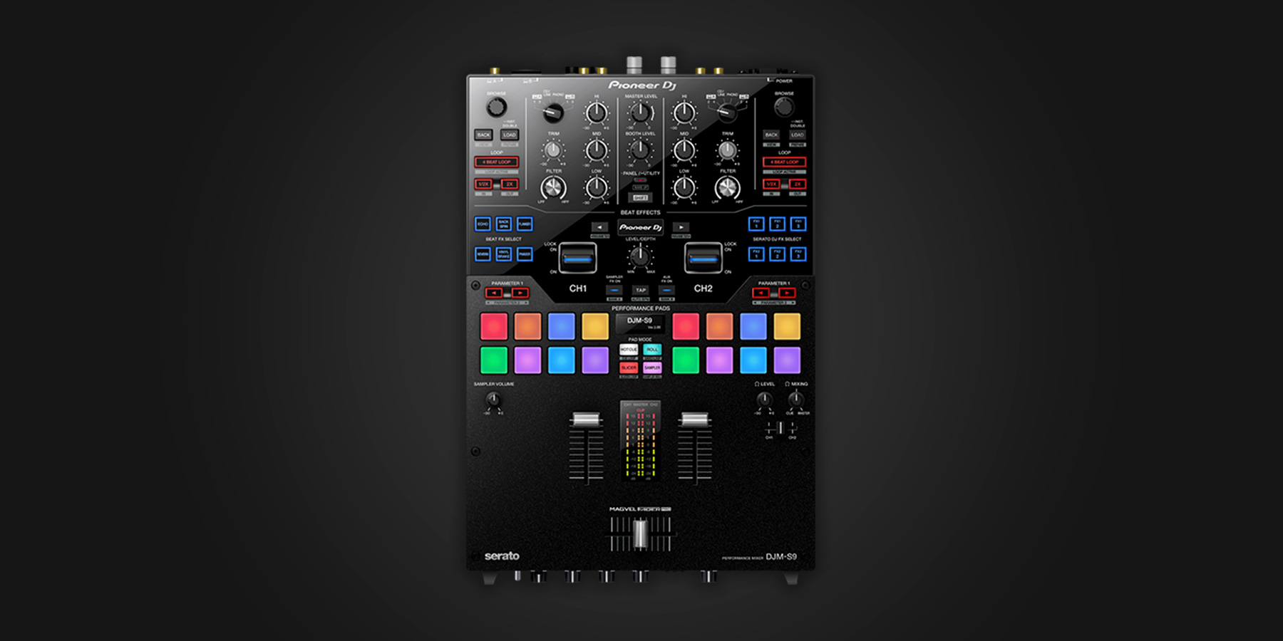 pioneer dj djm s9 serato dj hardware. Black Bedroom Furniture Sets. Home Design Ideas