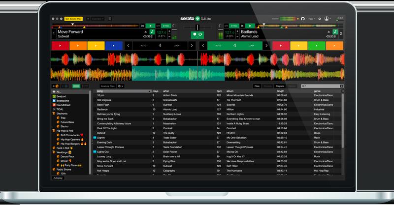 Serato DJ Lite practise mode GUI