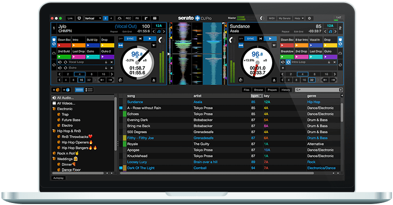 Serato DJ Pro Performance Mode GUI