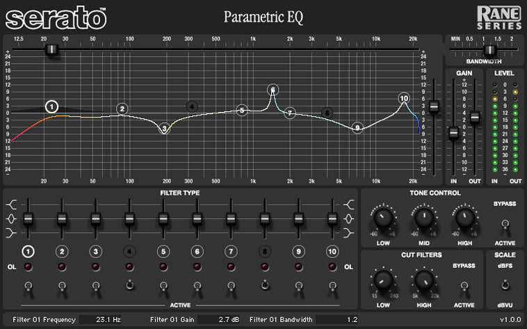 Serato Rane Series Parametric EQ